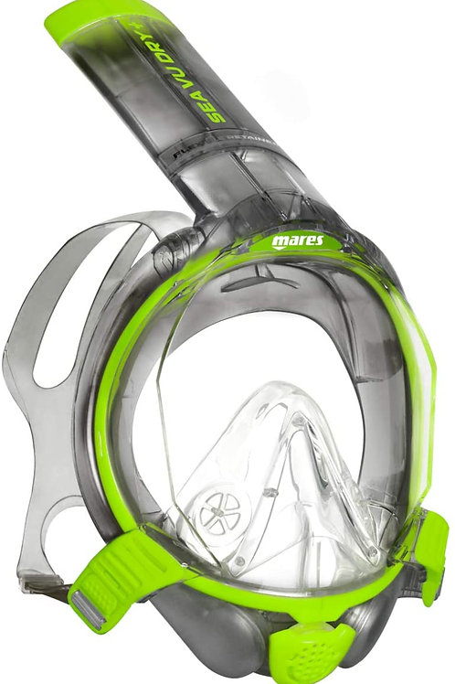 Mares - Full Face Mask Sea VU Dry + (L-XL, Lime-SK)