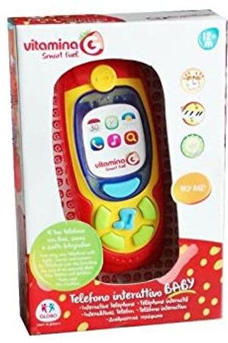 Globo- Telefono con Luci e Suoni, Multicolore, GLO1065