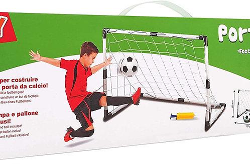 Globo - Meta da Calcio con Pallina/Pompa, Unisex, per Bambini, Taglia Unica