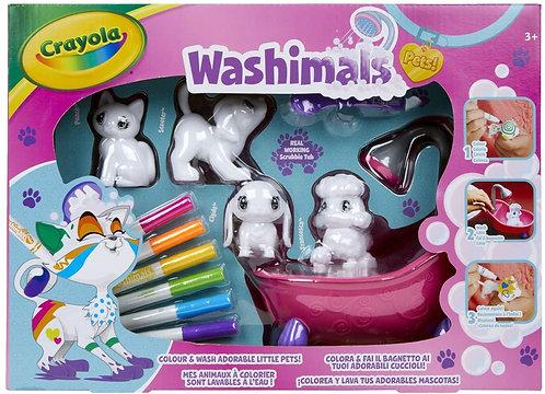 CRAYOLA Washimals Set Attività, per Colorare e Fare il Bagnetto ai 4 Cuccioli