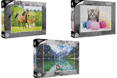 Globo - Puzzle da 1000 pezzi, 68 x 48 cm, 6asst (40365), multicolore