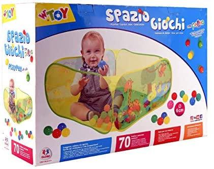 Globo - Baby Pool 50x34x17 cm con animali con 70 palline d. 6 cm (38317), multic