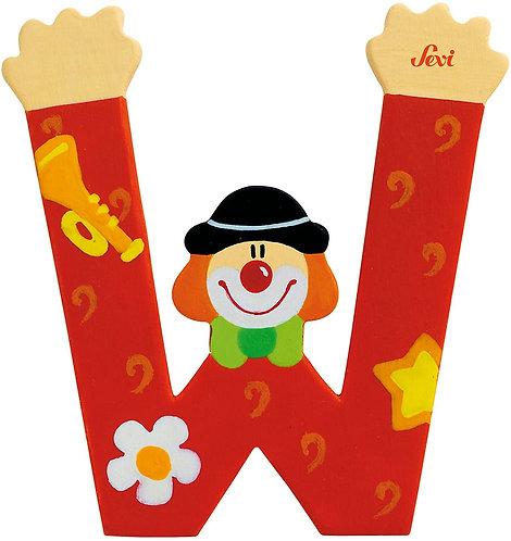 Trudi Sevi 81759 - Lettera W Clown, Colori Assortiti, 1 pezzo