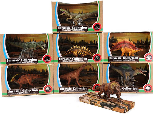 Globo Giocattoli Globo – 37417 20 – 25 cm 8 Dinosauri Assortiti Collection Toy
