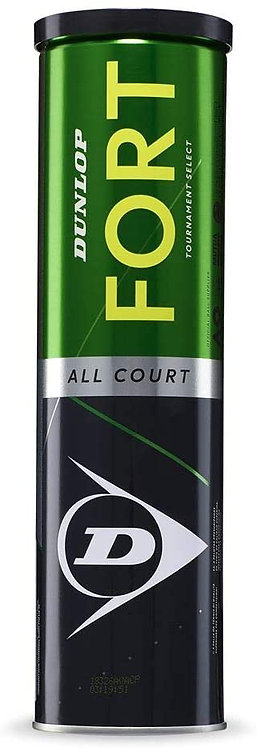 DUNLOP FORT ALL COURT PALLINE TENNIS TUBO X 4, Giallo