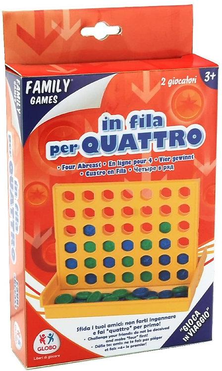 Globo Giocattoli 37774 Bingo Line Up 4 Giochi di Famiglia con vaschetta