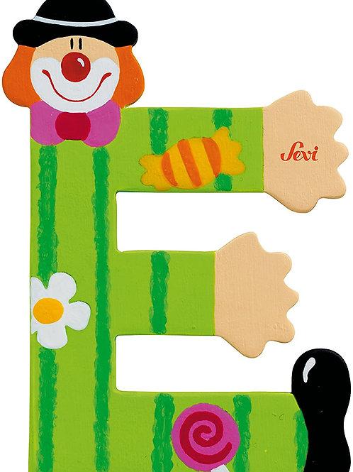 Trudi Sevi 81741 - Lettera E Clown, Colori Assortiti, 1 pezzo