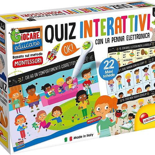 Lisciani Giochi - Montessori Penna Elettronica Schede Giganti Gioco per Bambini