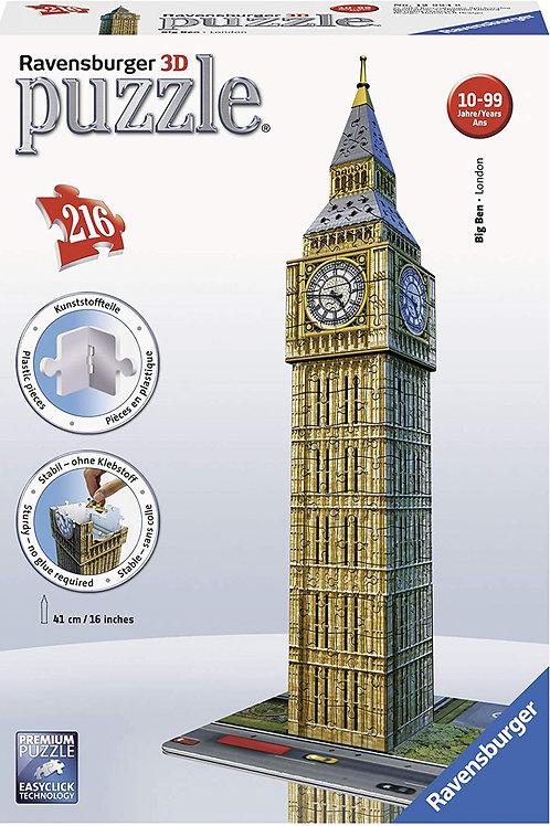 Ravensburger Italy Puzzle 3D Big Ben, Multicolore, 216 Pezzi + Accessori