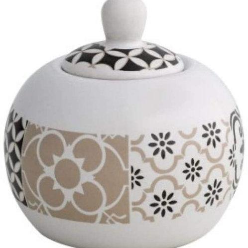 Brandani 53184 Alhambra zuccheriera stoneware, multicolore