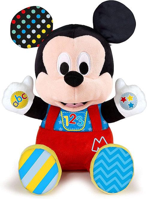 Clementoni- Disney Baby Mickey Gioca e Impara, Peluche parlante, Multicolore