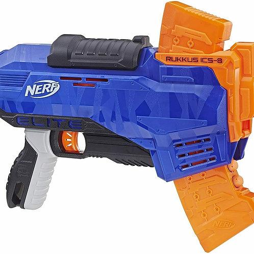 Nerf Elite Rukkus ICS, Blaster con Dardi e Caricatore a Scorrimento Verticale