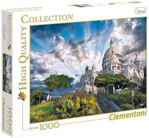 Clementoni- Montmartre Puzzle, 100 Pezzi, Multicolore, 1000, 39383