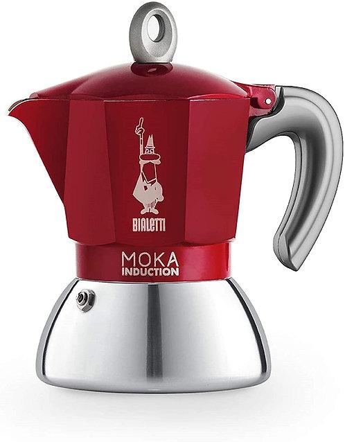 Bialetti New Moka Induction Caffettiera Adatta all'Induzione, 2 Tazze, 90 ml