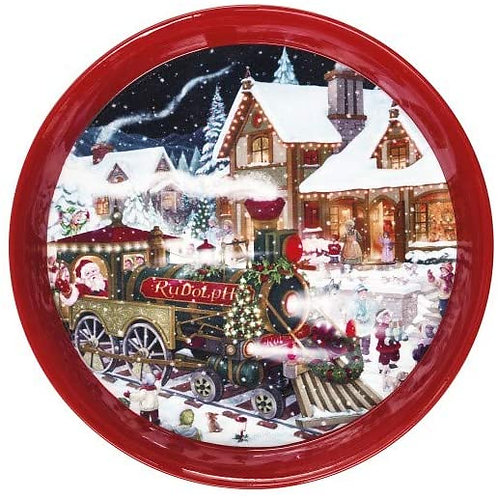 BRANDANI 83228 Vassoio Christmas Rosso Metal