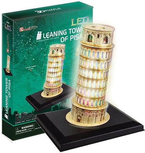 CubicFun 3D Puzzle con LUCI LED all'Interno, Torre di Pisa 15 Pezzi