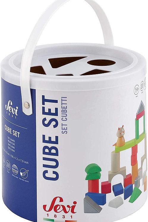 Trudi- Set Cubetti (36 pz.) Costruzioni, Multicolore, 83037