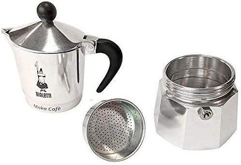 Bialetti Break Caffettiera Espresso Tazza 3, Alluminio, Grigio, 13x9x17 cm