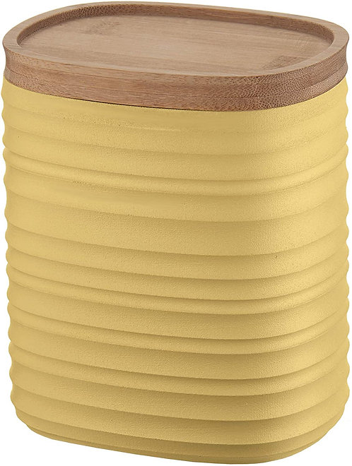 Guzzini Tierra Barattolo, Post Consumed Recycled Poliestereastic, Bamboo, Giallo