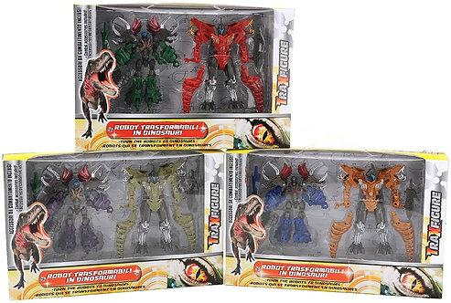 Globo- Robot Traxfigure Dinosauro, Multicolore, GLO876