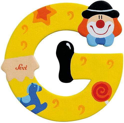 Trudi Sevi 81743 - Lettera G Clown, Colori Assortiti, 1 pezzo