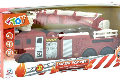 Globo- B/O Fireman Truckcm 47 W/L/S Try Me (38304), Multicolore (1)