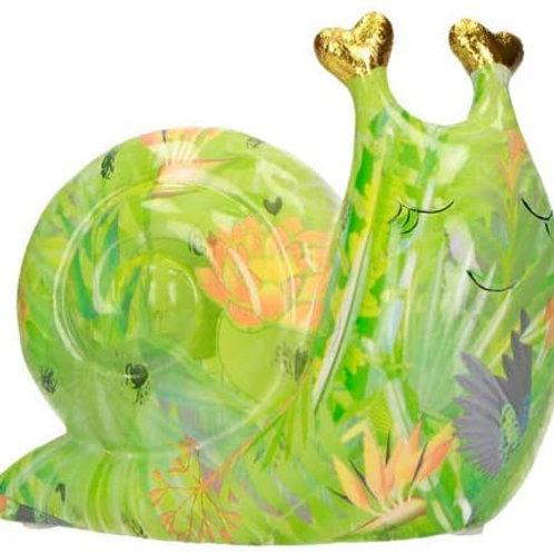 BRANDANI Salvadanaio Chiocciola Art. 53776 in Ceramica Dolomite 13x6x12h