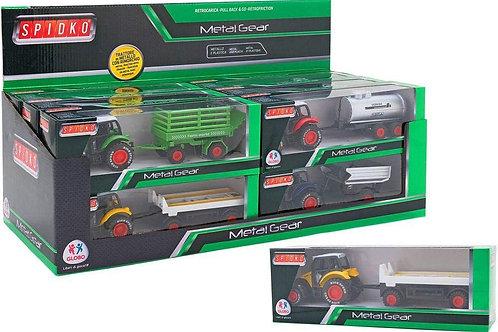 Globo giocattoli  36967 Spidko trattore con rimorchio, Modelli e Colori Assortit