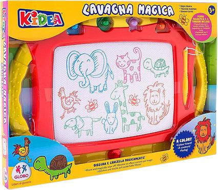 Kidea- Lavagna Magica a Colori con Penna e 4 Stampini, 38286