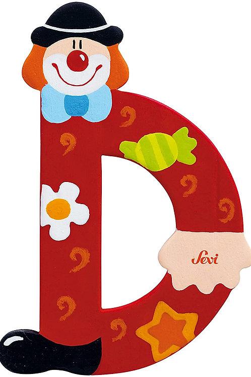 Trudi Sevi 81740 Lettera D Clown, colori assortiti