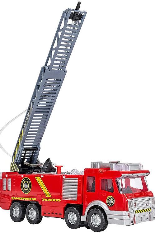 Globo Camion Pompieri MOV Mistero B/O Luci/Suoni C/Spruz, Multicolore, 801496639
