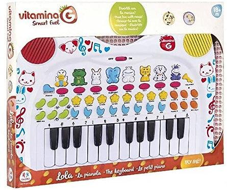 Globo- Pianola degli Animali, Multicolore, GLO1230