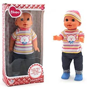 Globo Giocattoli Globo – 37402 41 cm Bimbo Walking Doll