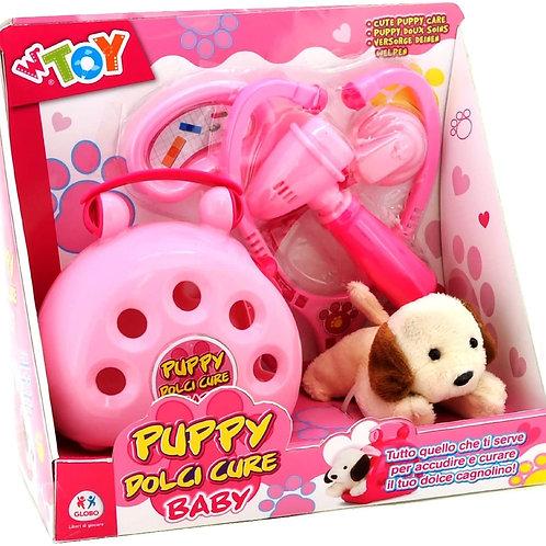 Globo Giocattoli GLOBO37929 W 'Toy Plush Mini Dog con Custodia per Trasporto/3 d