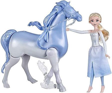 Hasbro Frozen - Frozen 2, Elsa e Il Cavallo Nokk Elettronico