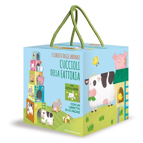 Cuccioli della fattoria. I cubotti degli animali. Ediz. a colori. Con gadget