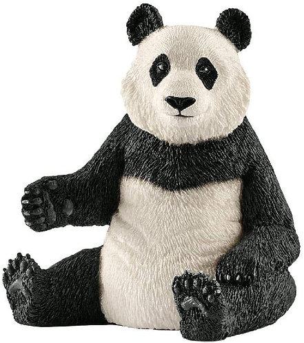 SCHLEICH- Femmina di Panda Gigante Figurina, Colore Nero e Bianco, 14773