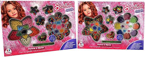 Globo – 37537 2 Assortiti Sbelletti Giocattoli di Legno e Perline di plastica