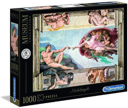 Clementoni- Vatican Puzzle-Michelangelo: La Creazione dell'uomo-1000 Pezzi