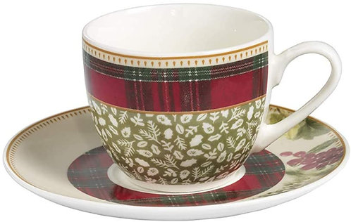 Brandani 53646 Tazzina Caffe Sottobosco Set 2Pz Porcellana D12 X 7H cm