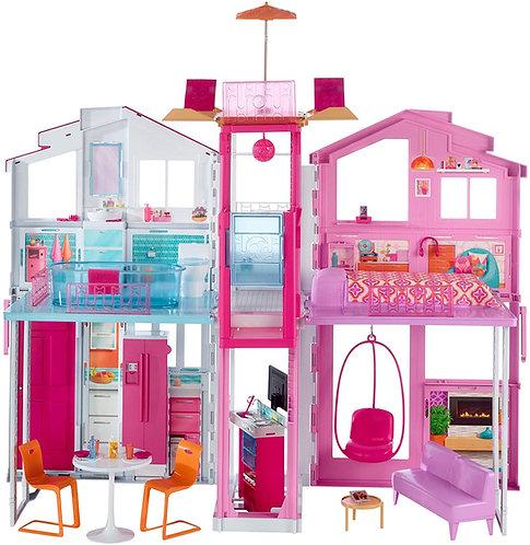 Barbie-la Casa di Malibu per Bambole con Accessori e Colori Vivaci, Giocattolo