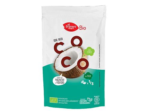 Copos de Coco Tostados Snack Bio, 80 g