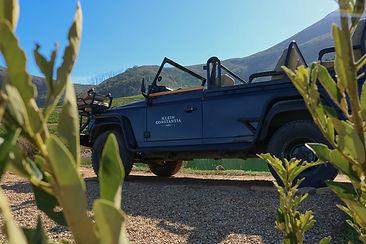Safari vehicle on Klein Constantia wine