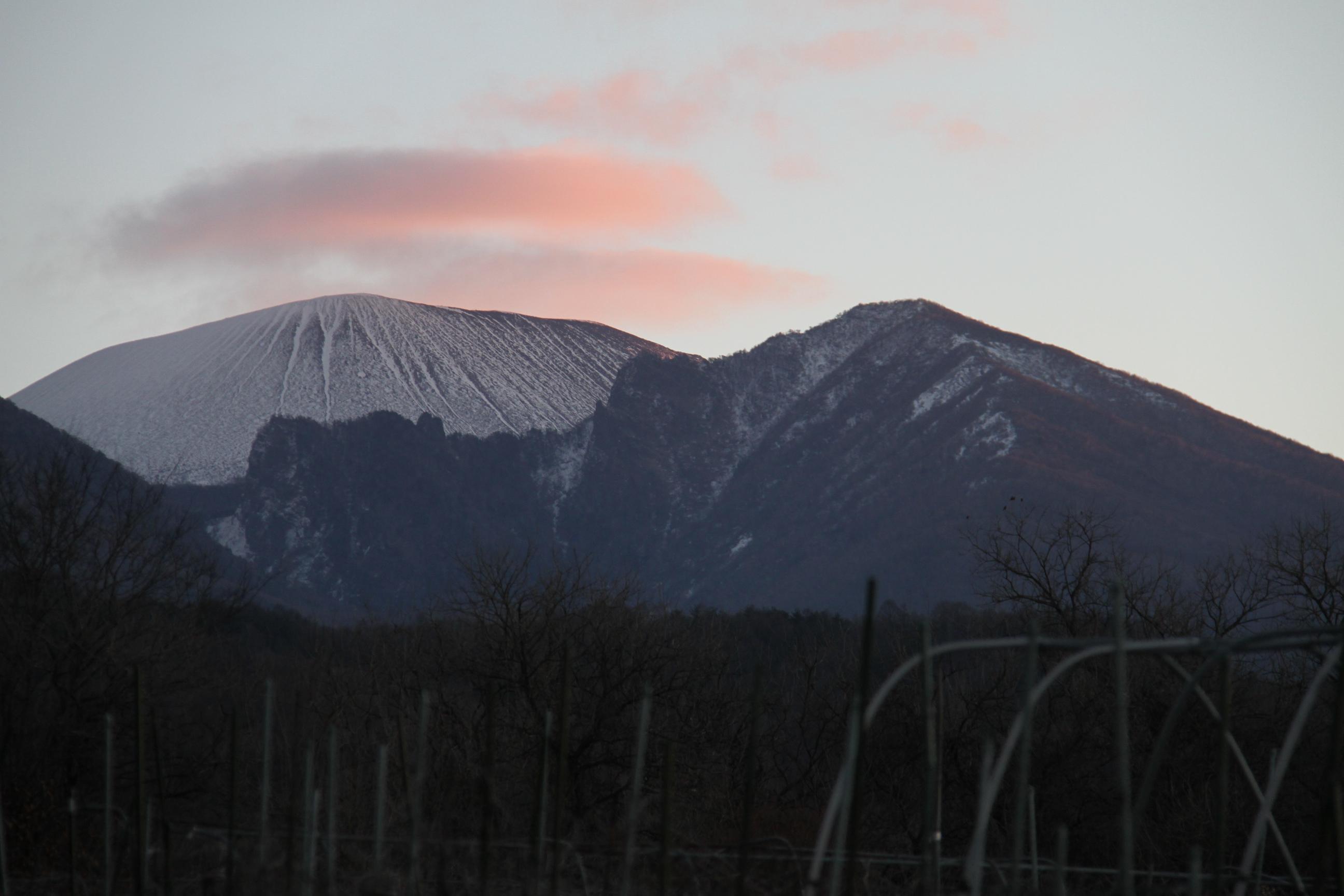 早朝の浅間山