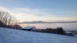 初雪の糠地の景色