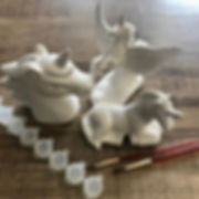 We offer Pottery Painting at home!! Sele