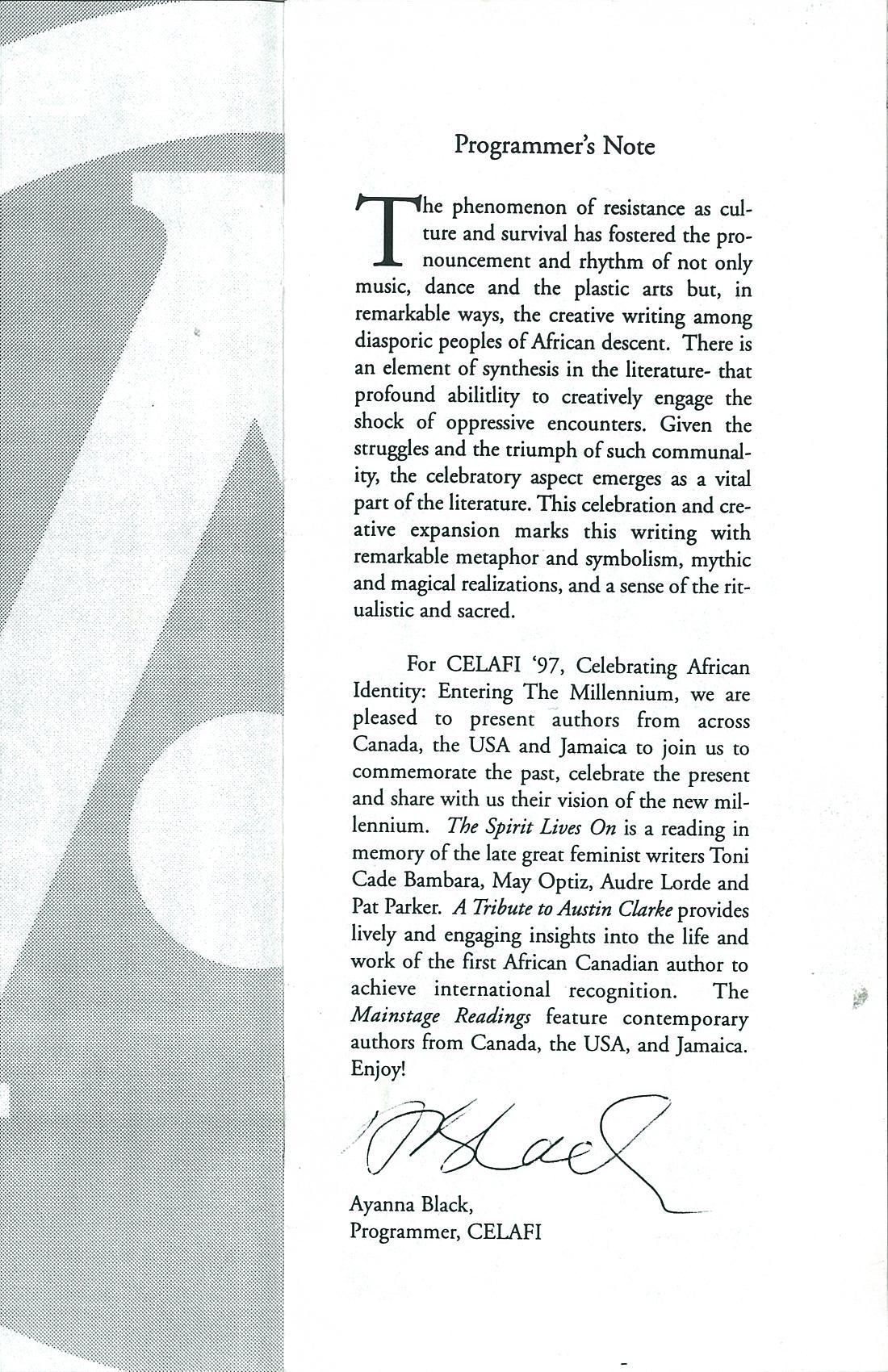 7. Lit - Austin Clarke Tribute