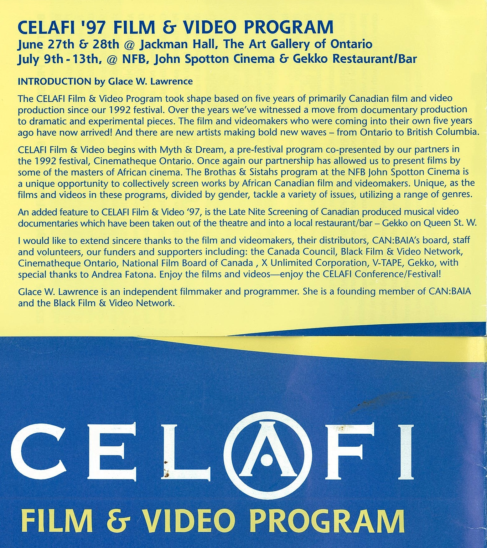 Celafi 1997 Film and Video - cover