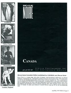 Revue Noire Cover Open Call