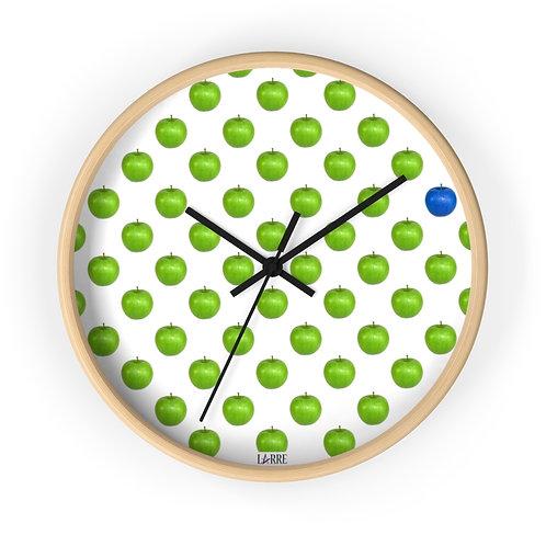 Blue apple wall clock